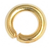 Jump Ring 2-32g Gold 3mm ID/5mm OD